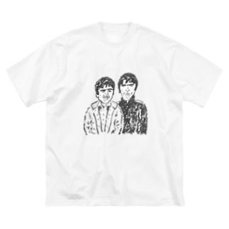 ギャラガー兄弟 Big silhouette T-shirts