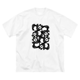 パンダ詰合せ Big silhouette T-shirts