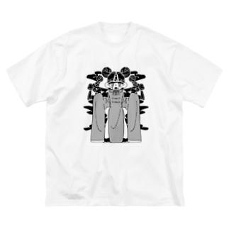 ふえぇ、、、、 Big silhouette T-shirts