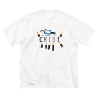 CT156 ちびた鉛筆*A Big silhouette T-shirts