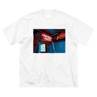 すすきのゼロ番地 Big silhouette T-shirts