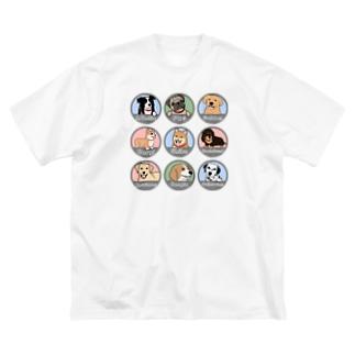 PUG-パグ-ぱぐ ワンちゃんTシャツ-1 Big silhouette T-shirts