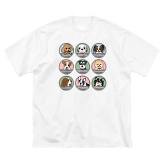 PUG-パグ-ぱぐ ワンちゃんTシャツ-2 Big silhouette T-shirts