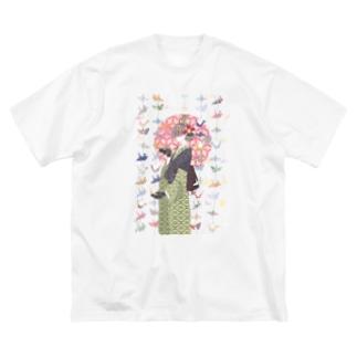 願わくは Big silhouette T-shirts