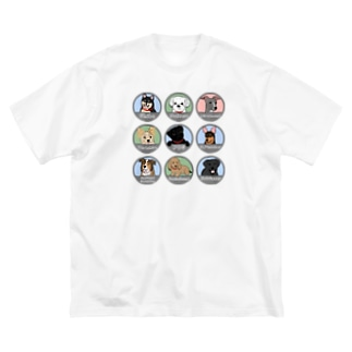 PUG-パグ-ぱぐ ワンちゃんTシャツ-3 Big silhouette T-shirts