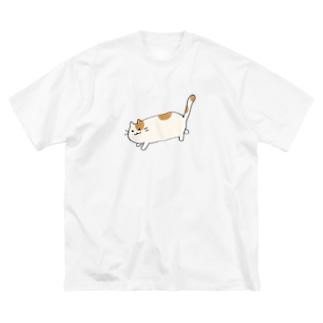 おさんぽねこ Big silhouette T-shirts