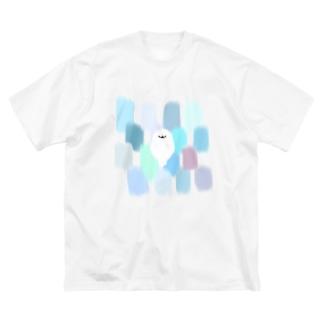 あざらしとえのぐ Big silhouette T-shirts