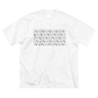 と Big silhouette T-shirts