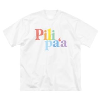 レインボーピリパア Big silhouette T-shirts