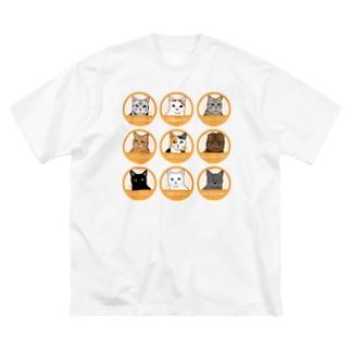 ニャンコTシャツ Big silhouette T-shirts