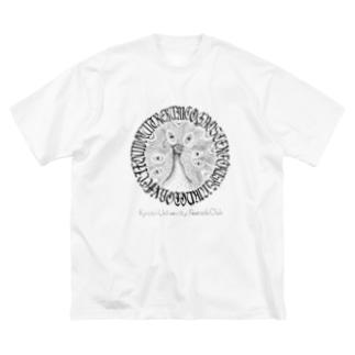 クジャク同好会エムブレム(ガチ) Big silhouette T-shirts