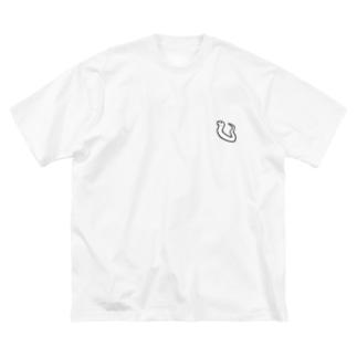 シシバナさん Big silhouette T-shirts
