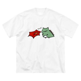 ギャオー Big silhouette T-shirts