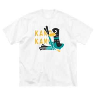 鴨カモ カモかも*C Big Silhouette T-Shirt