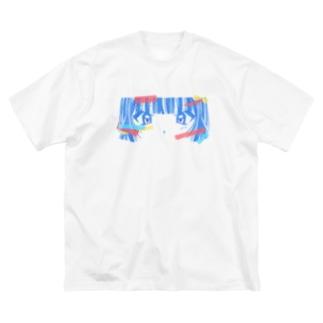 めぢから Big silhouette T-shirts