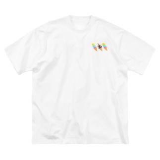アイスと文鳥ず② Big Silhouette T-Shirt