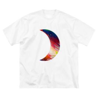 moon☽・:* Big silhouette T-shirts