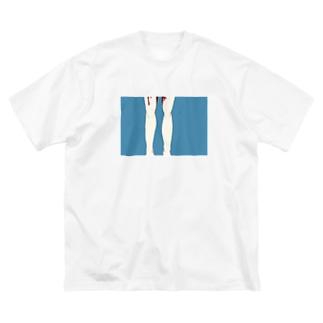 膝下から Big silhouette T-shirts