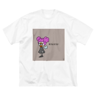 わくわくしてる? Big silhouette T-shirts