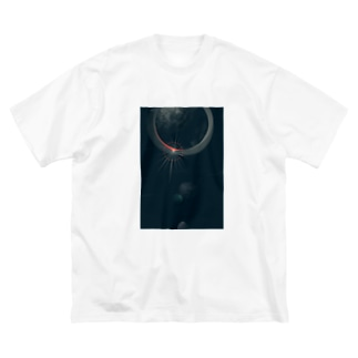 夜と月 Big Silhouette T-Shirt