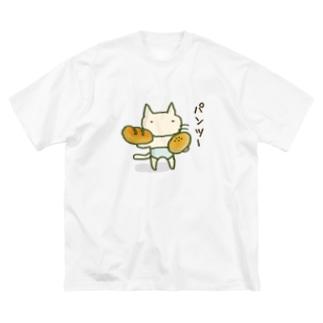 パンツーパンツねこ Big silhouette T-shirts