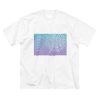 宇宙ドリンクメニューシリーズ Big silhouette T-shirts