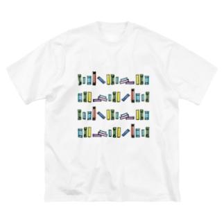 図書館 Big silhouette T-shirts