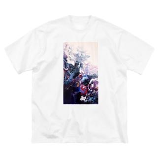 深海 Big silhouette T-shirts