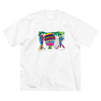 I wented to ride a hot air balloon / justine ikeda Big silhouette T-shirts
