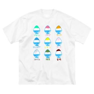 かき氷イラスト Big silhouette T-shirts