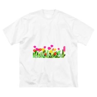 ちゅーりっぷ Big silhouette T-shirts