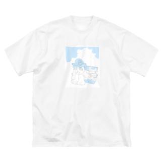 ねこのひとやすみ Big silhouette T-shirts