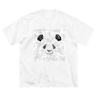 パンダ Big silhouette T-shirts