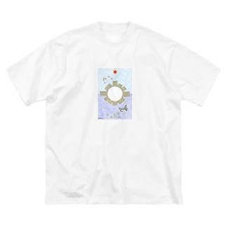 「CAT partⅡ」 Big silhouette T-shirts