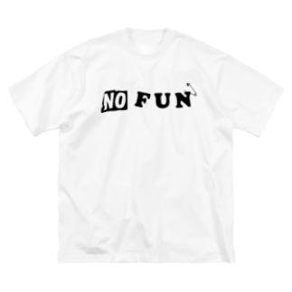 NO FUN Big silhouette T-shirts