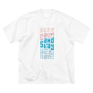 Keep Calm and Stay Health Big silhouette T-shirts