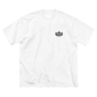大日本帝国陸軍近衛師団帽章(ワンポイント グレー) Big silhouette T-shirts