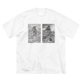 種まく人 Big silhouette T-shirts