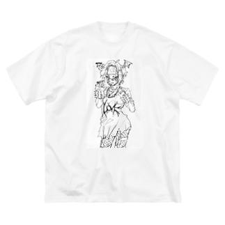 💤負け犬インターネット💤のパンクこうもりちゃん Big silhouette T-shirts
