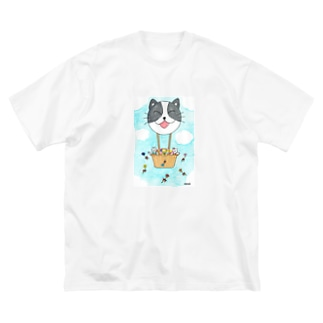 「花いっぱい!夢いっぱい!」 Big silhouette T-shirts