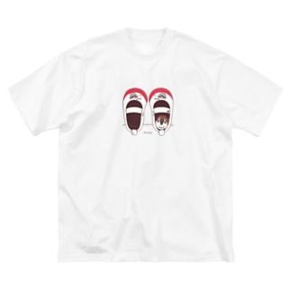 *suzuriDeMONYAAT*のCT165 スズメがちゅん*うわばきちゅんA*イラストサイズ普通ver.* Big T-shirts