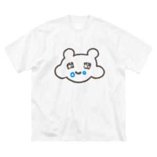 モグモグ✨パンくずマウス Big silhouette T-shirts