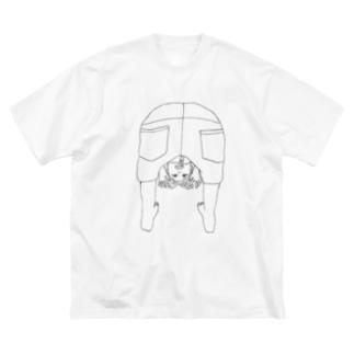 ガォーのりっこ 線画イラスト Big silhouette T-shirts