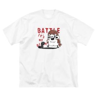 CT166 スズメがちゅん*BATTLEちゅん Big Silhouette T-Shirt