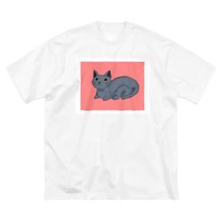 ネコ Big silhouette T-shirts