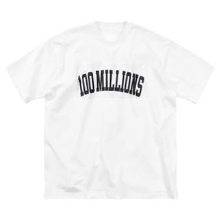 100million Big silhouette T-shirts