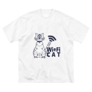 WieFi CAT(ウィーフィーキャット)  Big silhouette T-shirts
