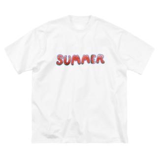 夏とスイカを同時に主張したい人向け Big silhouette T-shirts