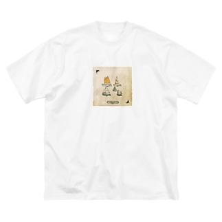 ヨットくん Big silhouette T-shirts