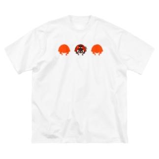 ナナホシテントウ【LOVE BUGS!】 Big silhouette T-shirts